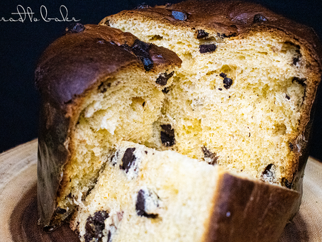 Chocolate Panettone with Raisins and Almonds