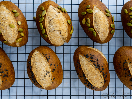 Sourdough 100% Spelt Bread Rolls