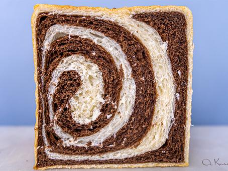 Chocolate Marbled Sourdough Milk Bread