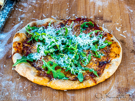 Sourdough Thin Crust Pizza with Whole Wheat Starter