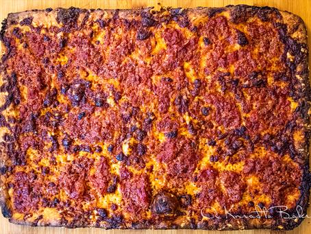 Sourdough Grandma Pizza (Sheet Pan Pizza)