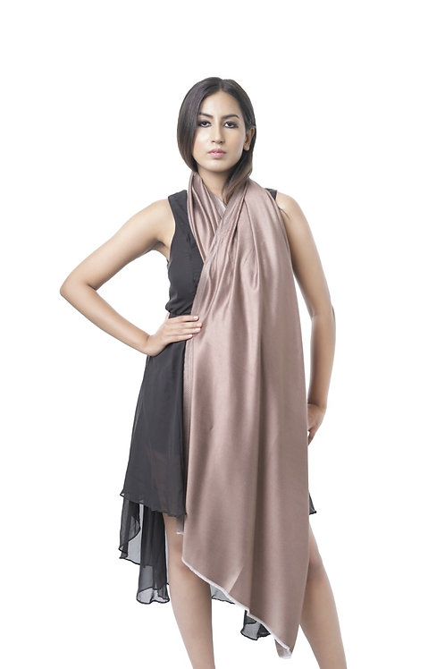 Women's Fine Wool, Silk Satin Weave, Reversible Stole