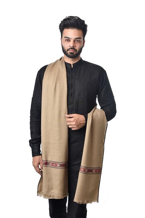 Men's Fine Wool, Kullu Design, Lambs Wool, Woven Shawl