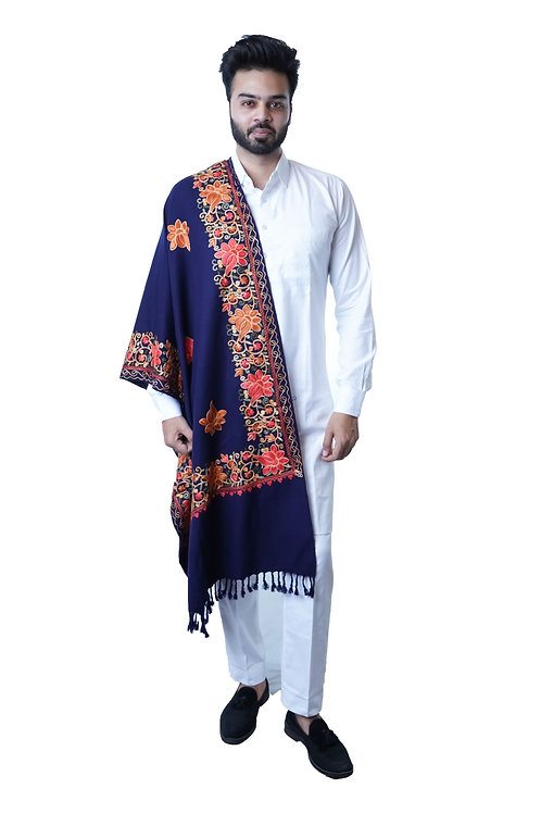 Men's Fine  Cashmilon Wool Blend, Embroidery, Woven
