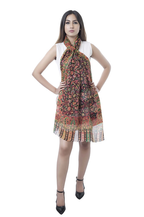 Women Fine Wool ,  , Floral Paisley Design