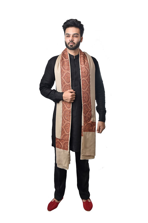 Men Kashmiri Design, Timeless Classic Shawl