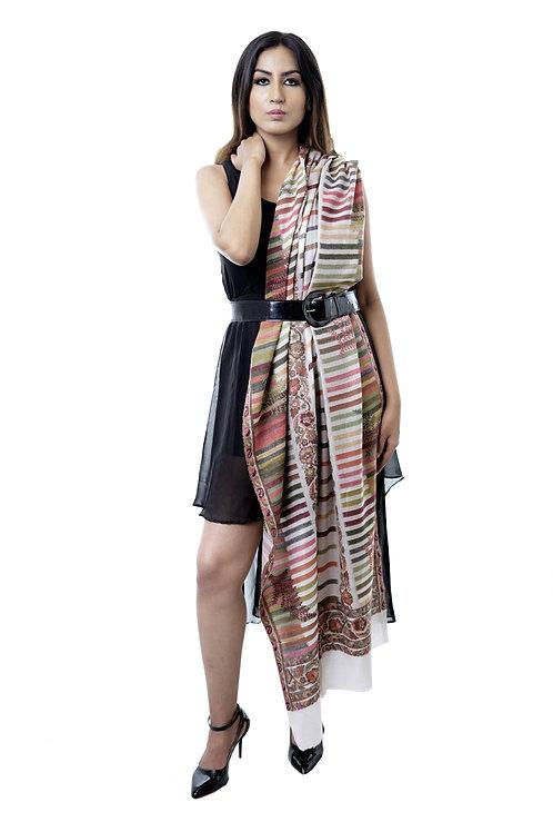Women's Fine Wool, Kanni Cutting Jaal, Supreme Pashmina Stole