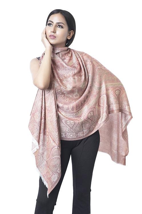 Women's Fine Wool Silk, Antique Jamawar, Pashmina Stole