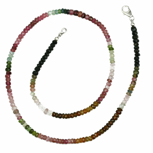Collier en Tourmaline facetté