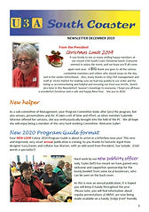 U3A South Coaster Newsletter Dec 2019.JP