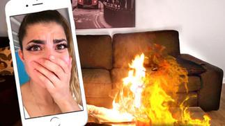 Facetime Fire Prank