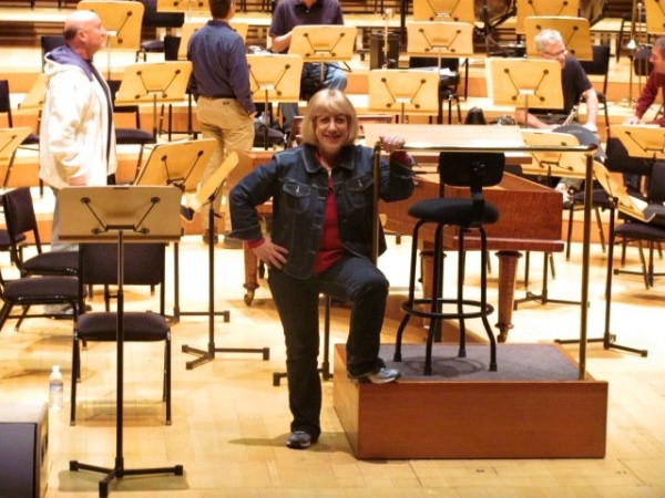 Rehearsal with the Los Angeles Master Chorale at Walt Disney Concert Hall