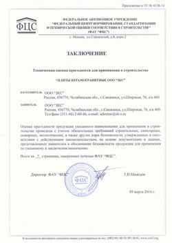 Техническая оценка к ТС №4138-14 22.04.14 заключение стр.1