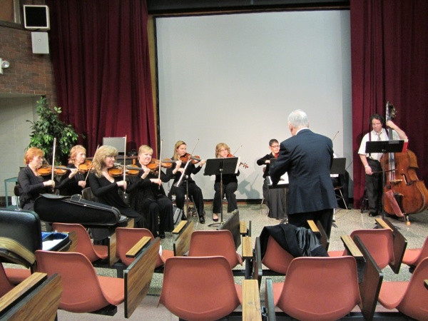 Rehearsing with the Camerata Players