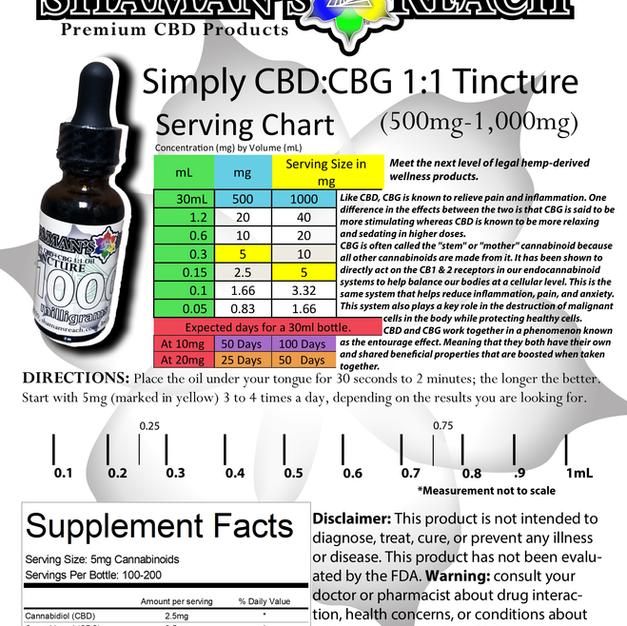 Simply CBG-CBD Tincture