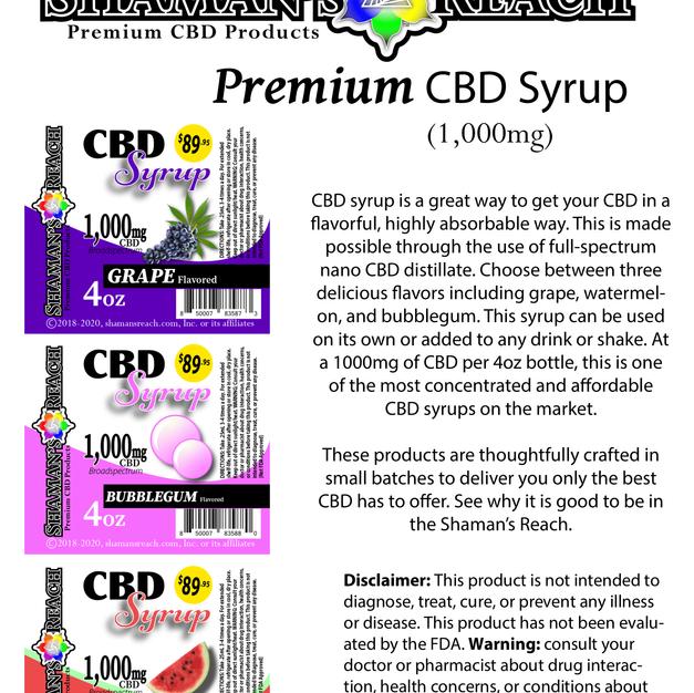 Premium CBD Syrup