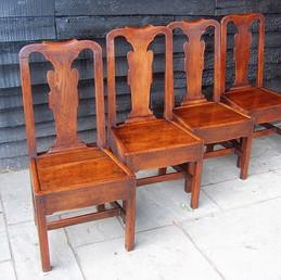 George II Elm Dining Chairs