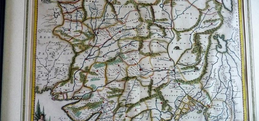 1690 De Witt Moghul Empire
