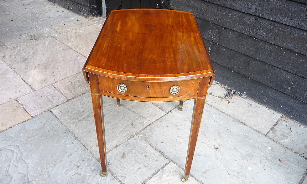 George III, circa 1780,Satinwood Pembroke Table.