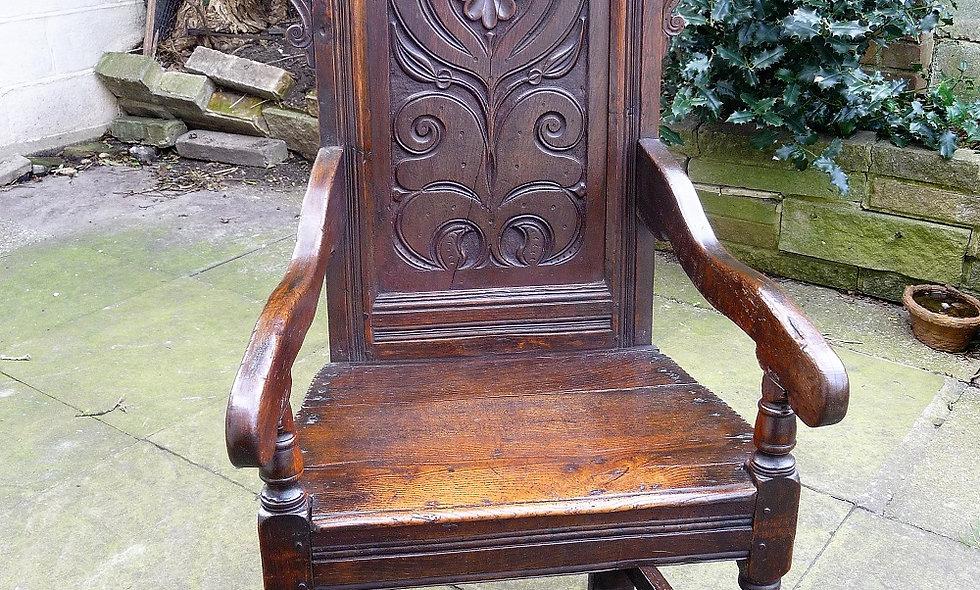 Charles II,circa 1660, Oak Arm Chair.
