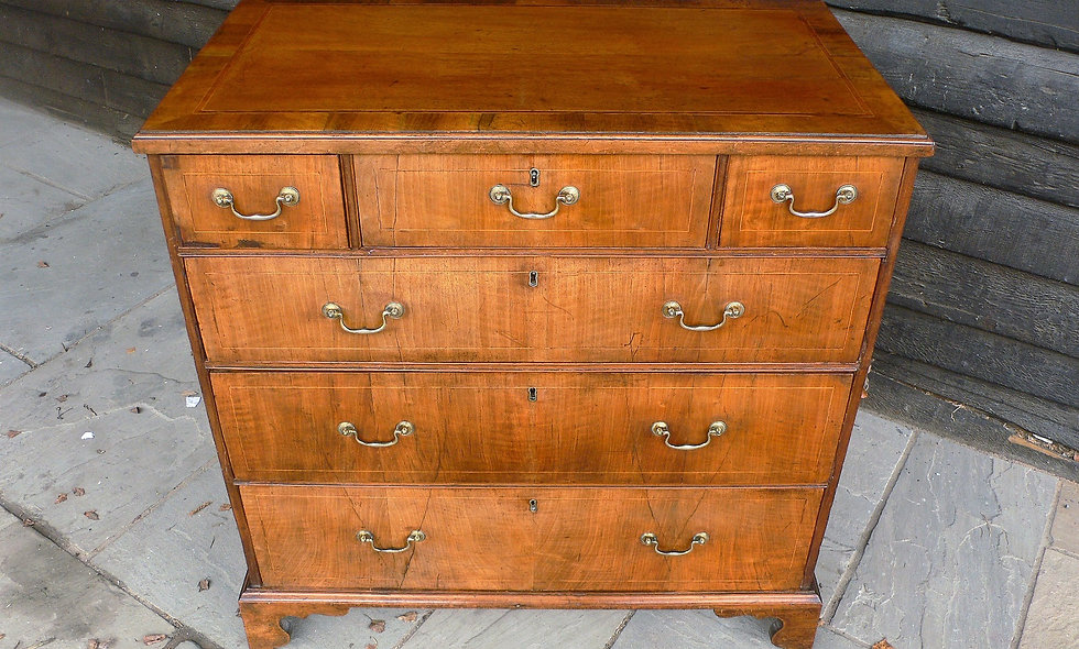 George III, circa 1760,Walnut Chest.