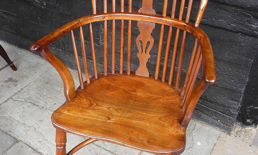 William Wheatland  1820 Yew wood Windsor Chair