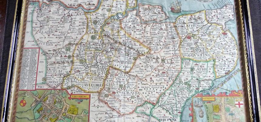 John Speed 1627 map of Kent