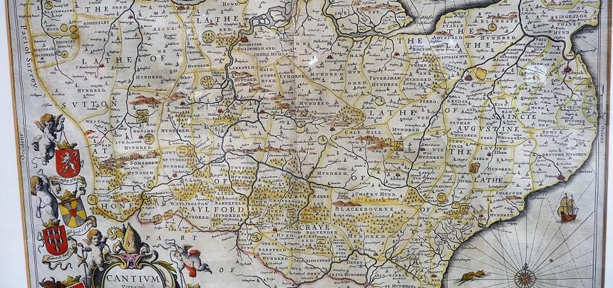 1646 Jan Jansson Kent Map.  £475