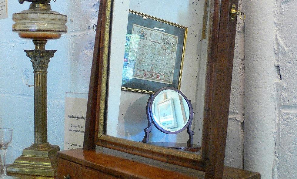 George II, circa 1740, Walnut Toilet mirror.