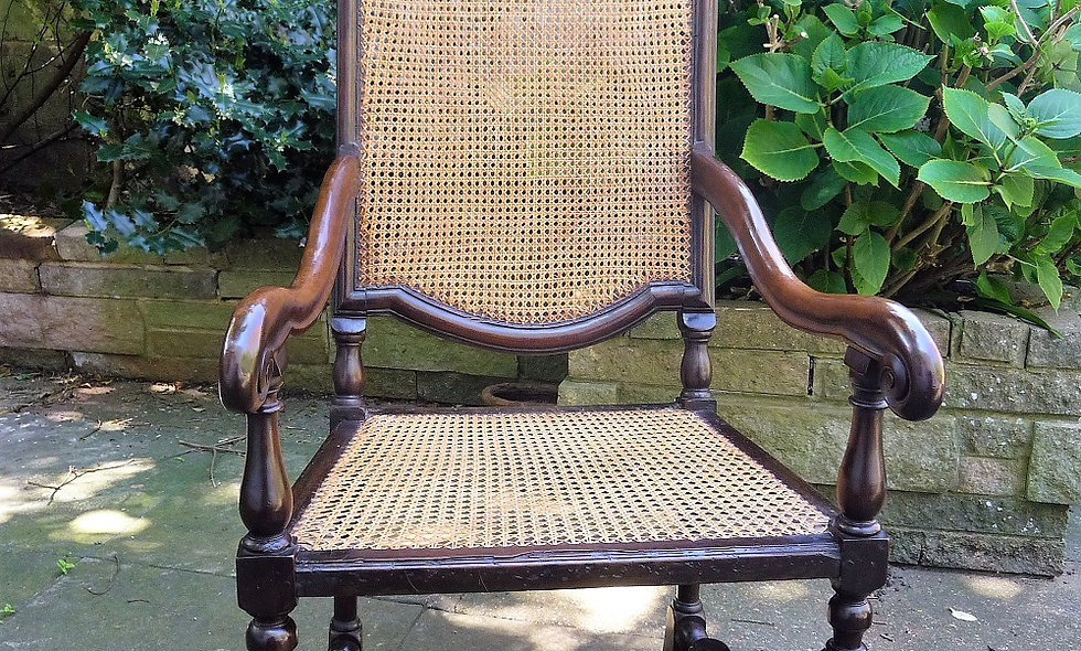 Early 18thC Dutch Walnut  Arm Chair