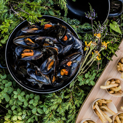 Mussels and fries, Chamonix style