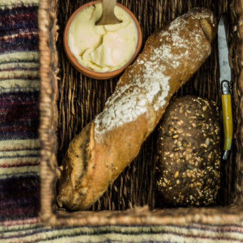 Crunchy fresh bread