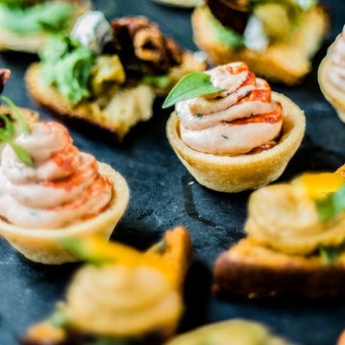 A selection of canapés