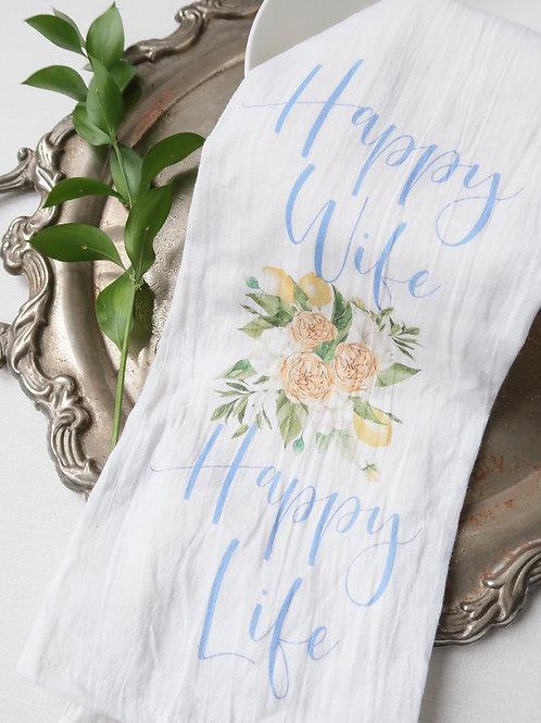 Happy Wife Tea Towel