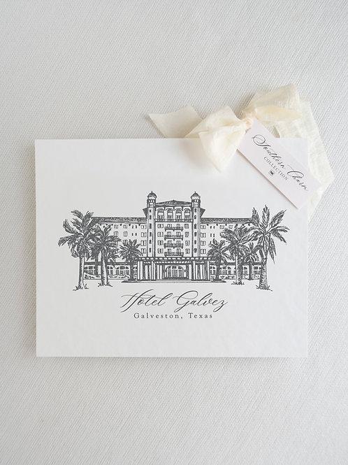 Fine Art Print of Hotel Galvez