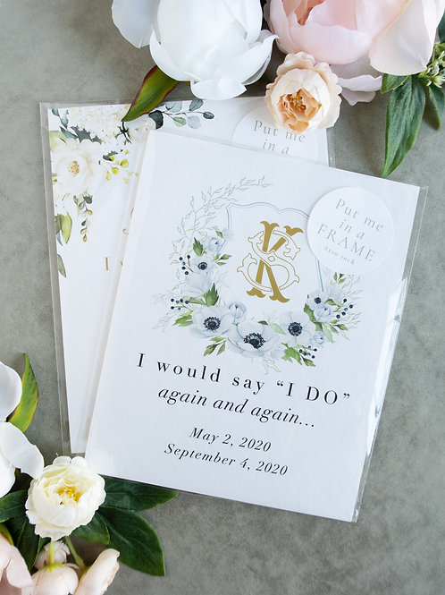 Wedding Dates Keepsake Print