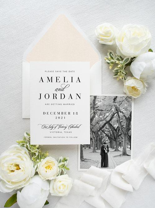 Amelia Save The Date