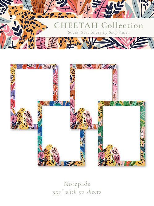 Cheetah Collection Notepads