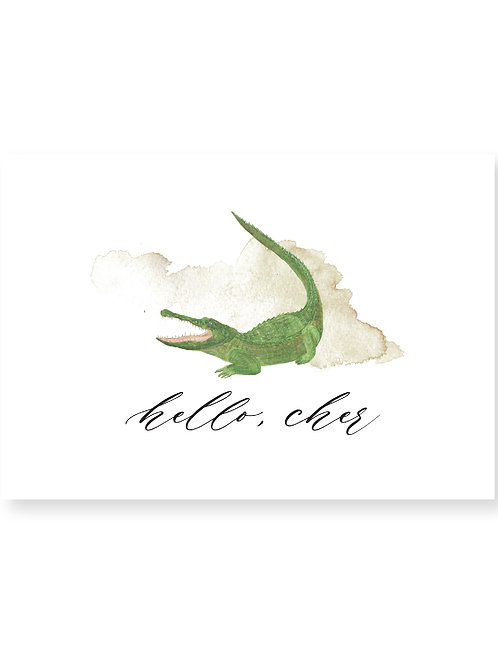 Hello, Cher | Gator Personalized Note Card
