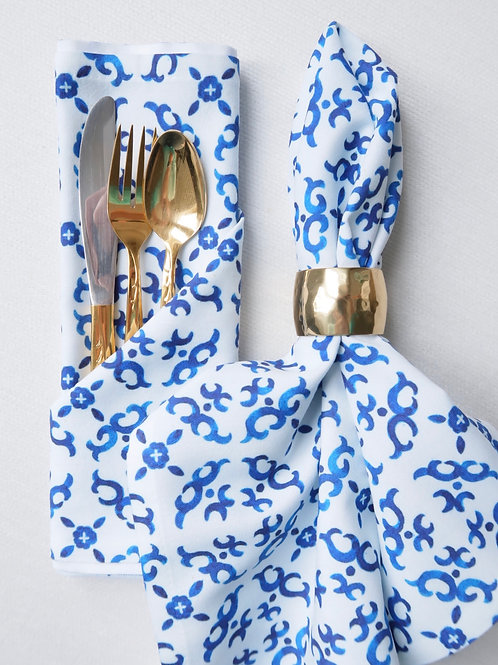 Blue Tile Napkins
