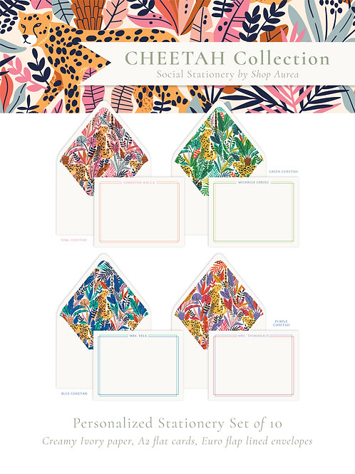 Cheetah Collection Stationery
