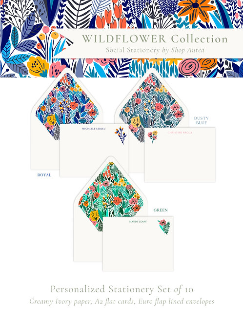 Wildflower Collection Stationery