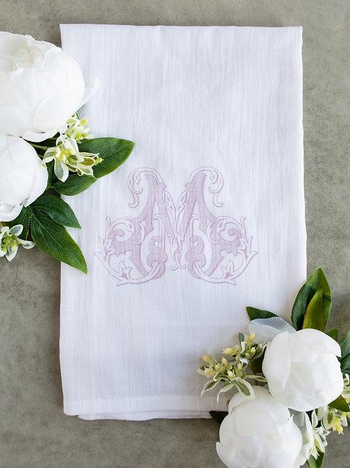 Monogram Tea Towel