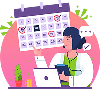 A female doctor marks date and time in calendar for a demo by Hifinite, one of the top 20 telehealth companies in the world