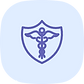 A medical symbol inside a shield shows HIPAA compliant feature of Karathon, one of the top RPM solution in the US.