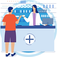 The person is buying meds from a pharmacy using the prescription via hiCare Clinic available worldwide (US, UK, India, etc.)