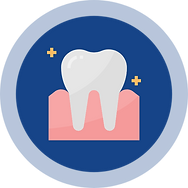 A teeth sign represent dentists from hiCare Clinic available worldwide (US, UK, UAE, INDIA, AUS, PAK, Srilanka, China, etc.)