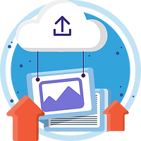 Upload documents or photos in hiCare Clinic available worldwide (US, UK, India, China, etc.) that gets stored in the cloud