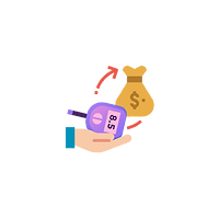 Showing medical device in exchange of dollars indicates that you can purchase devices in the Karathon platform