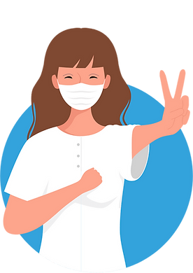 A patient's image with a mask seeking online doctor from hiCare Clinic available worldwide (US, UK, UAE, INDIA, China, etc.)